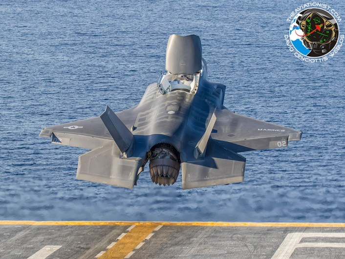 """F-35B launchs off the USS America (LHA-6) during """"Proof of Concept"""" demonstration November 19, 2016."""