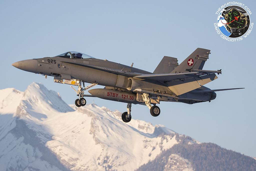 Swiss Hornets and Austrian Typhoons provide Davos World Economic