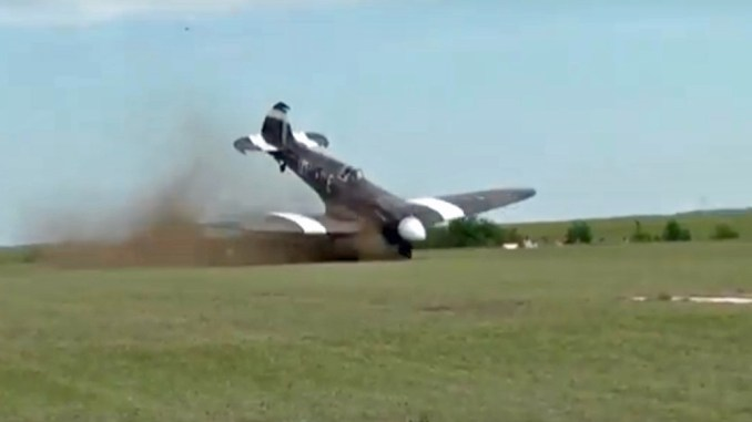 Video Shows Spitfire Crashing While Taking Off During