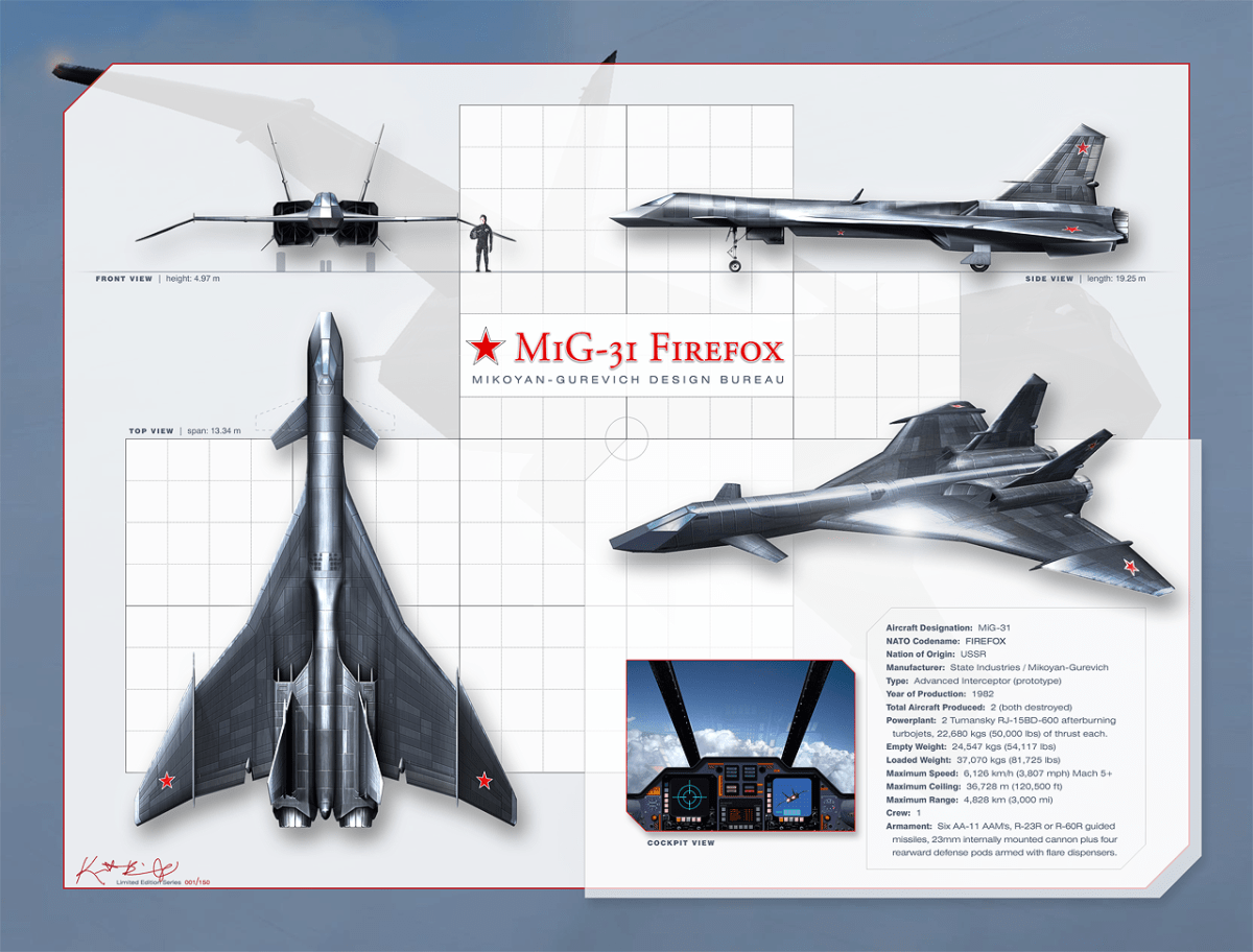 """The Story Of The MiG-31 """"Firefox"""": All You Need To Know"""