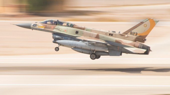 Israeli F-16I Sufa Crashes After Coming Under Massive Anti