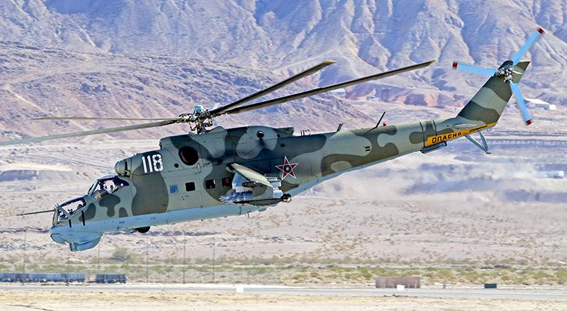U S  Marines Request Contractors To Provide Russian-Built Mi-24 Hind