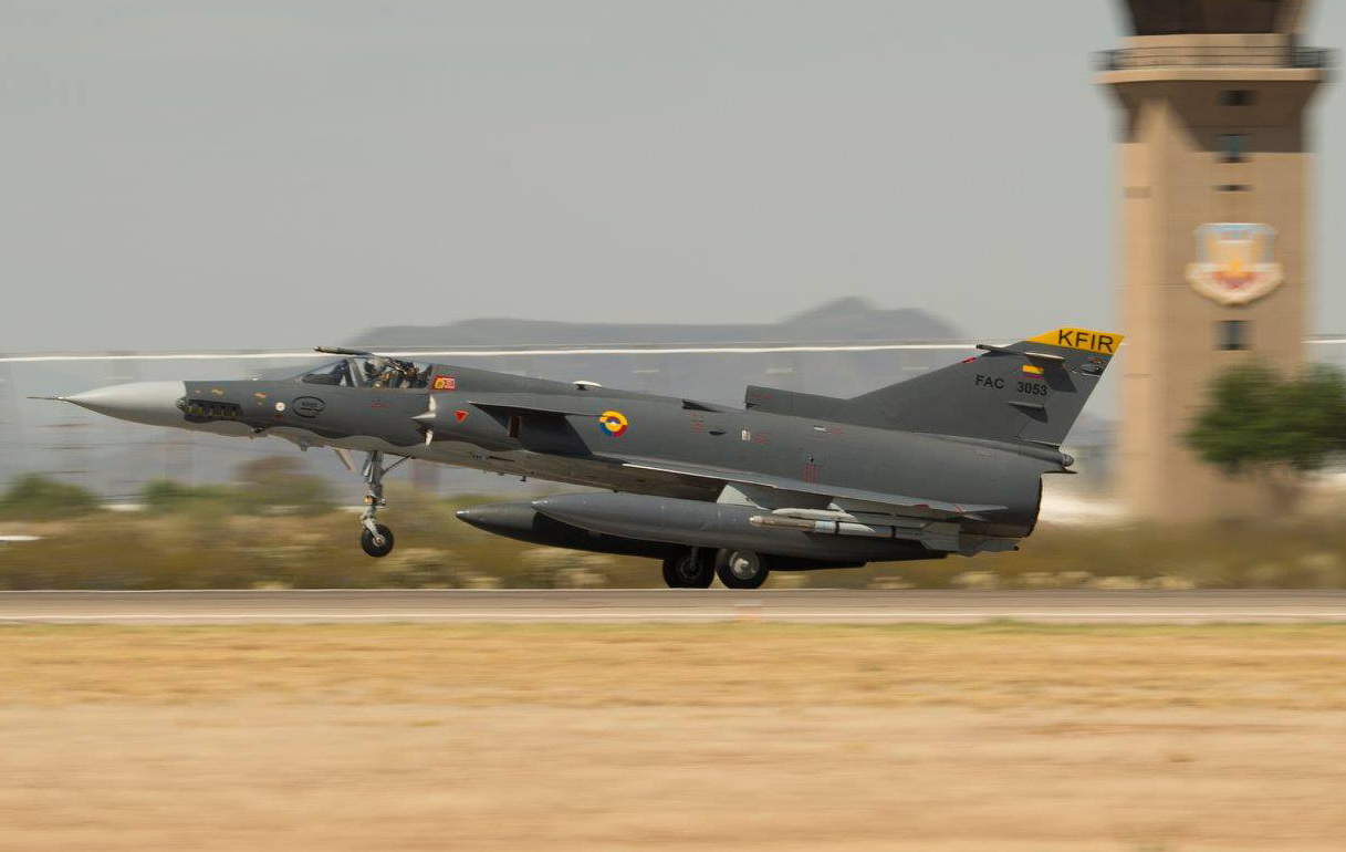 Colombian Kfir Delta-Wing Aircraft Return to the U S  to