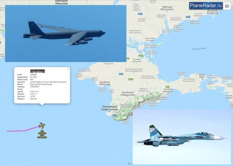 US B-52H bombers Intercepted By Russian Su-27 Flanker Jets Over the Black and Baltic Seas