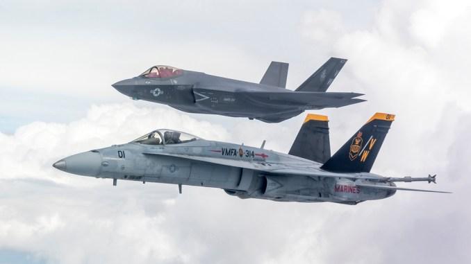 https://i1.wp.com/theaviationist.com/wp-content/uploads/2019/06/VMFA-314-F-18-and-F-35.jpg?resize=678%2C381&ssl=1