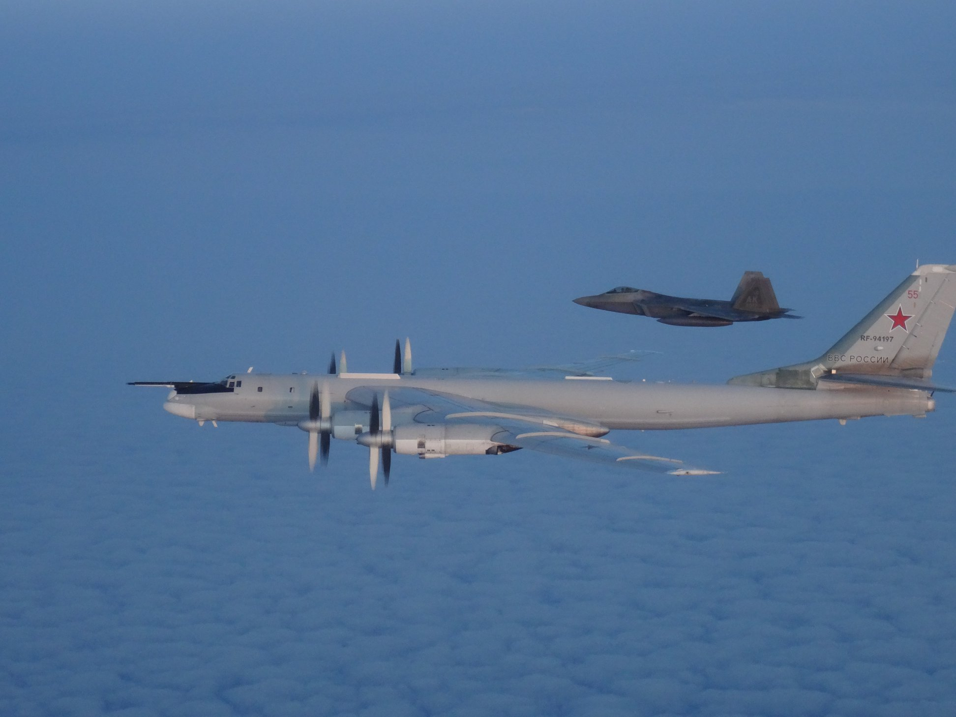 U.S. fighter jets intercept Russian bombers near Alaska