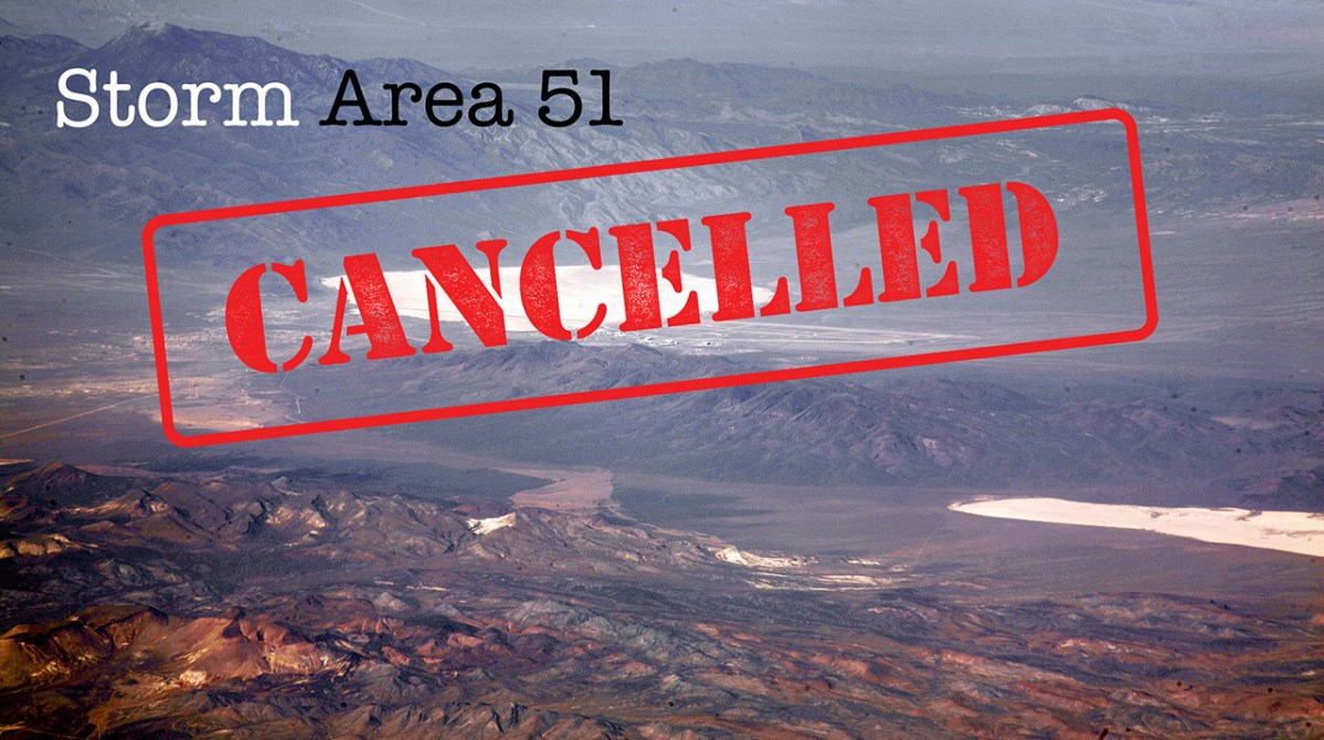 """Storm Area 51"""" Facebook Event Page Disappears, But It Isn't Alien"""