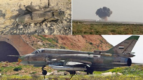"Reports: Syrian Su-22 ""Shot Down"" Down Near Idlib, Pilot Reported as Ejected."