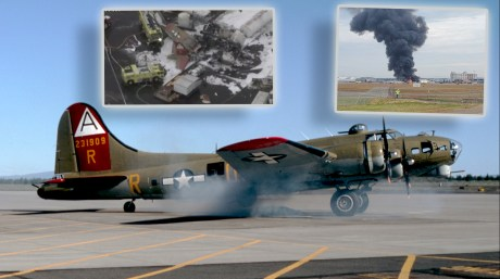 [Updated] Collings Foundation B-17G Crashes at Bradley International in Connecticut, 5 killed.