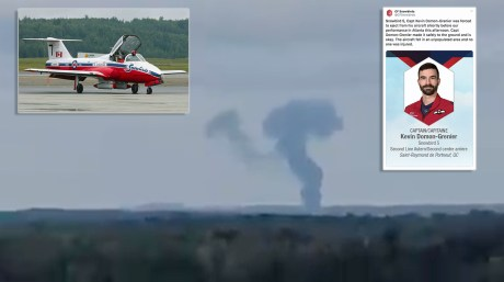 Canadian Forces Snowbird 5 Crashes at Atlanta Air Show, Pilot Ejects Safely.