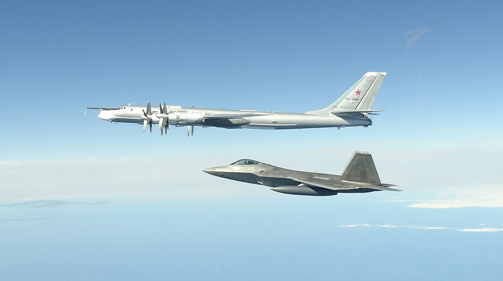 United States fighter jets intercept Russian bombers off Alaska
