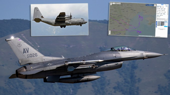 "Black Sea Ex Jul 2020 top - U.S. F-16s Involved in JASSM Cruise Missile Tactics Training Take Part In ""All Domain Mission"" Over The Black Sea"