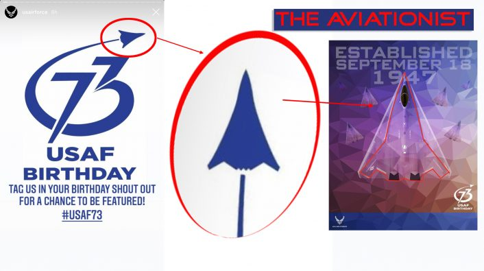 73rd AF Instagram easter egg 706x395 - Air Force 73rd Birthday Graphic Features Rendering Of A Mysterious Next Generation Aircraft
