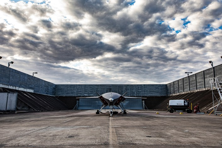 ATS engine testing 9844 hi res - Boeing Has Completed Engine Run on First Unmanned Loyal Wingman Aircraft For Australia