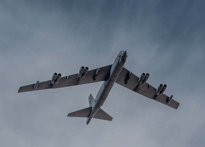 B 52 landing at Moron AB 3 - Two U.S. B-52s of Bomber Task Force 20-4 Fly Mission In Moroccan Airspace Before Landing at Spanish Airbase