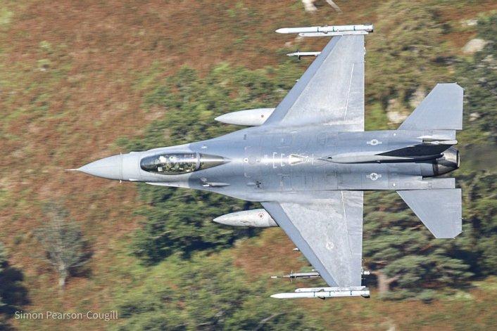 F 16 AV LFA17 - 31st FW F-16s Deployed To RAF Lakenheath Have Started Zipping Low Level Through The Lake District