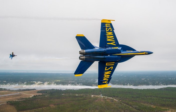 Blue Angels SH 3 - Check Out These Photos Of The Blue Angels Flying The Diamond Formation With The Super Hornets For The First Time