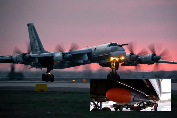 Russian Bombers Cruise Missile Exercise