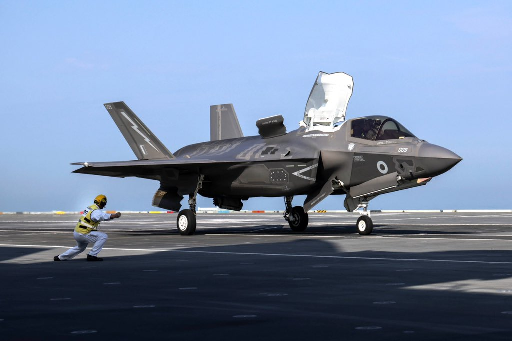 - The Royal Navy Is Operating Crewed And Uncrewed Aircraft From The HMS Prince Of Wales Aircraft Carrier