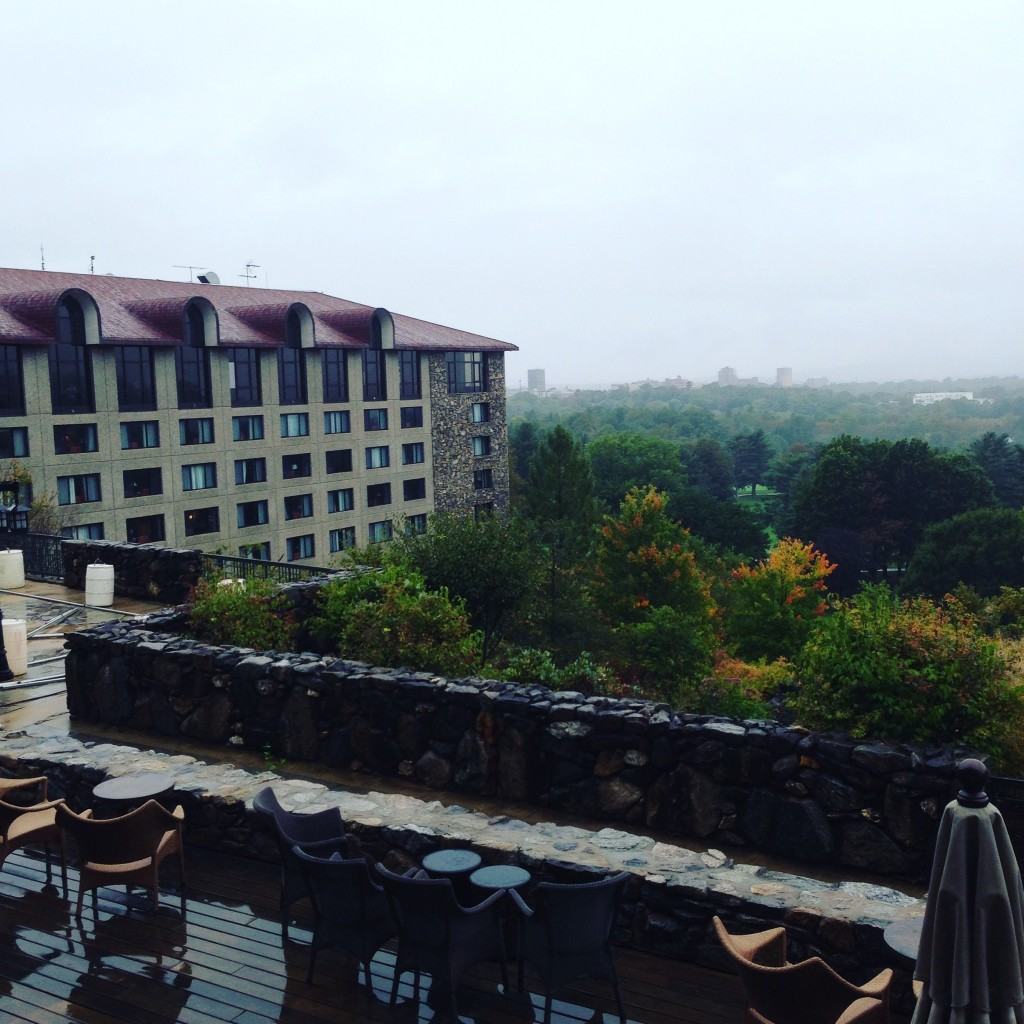View of the Sammons Wing we were staying in during our time at the Omni Grove Park Inn.
