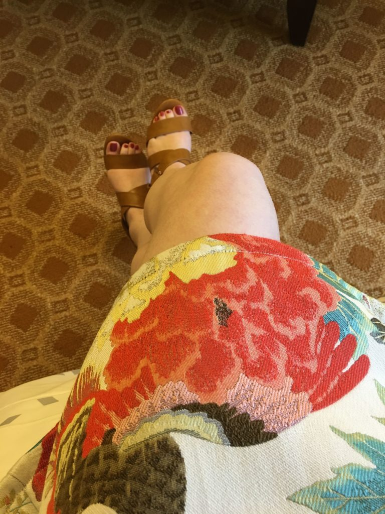 New dress and shoes debuting on this trip. Love!