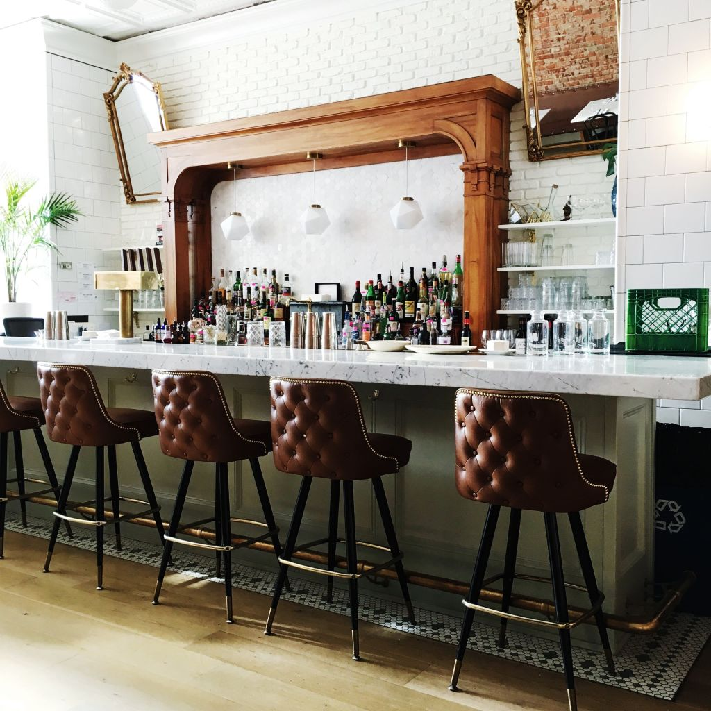 A view of the bar seating...