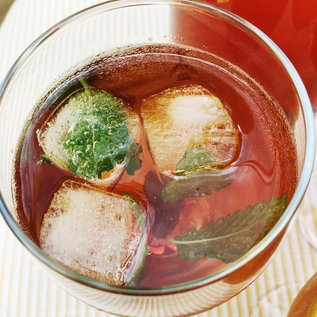 We also brewed some fresh iced tea.