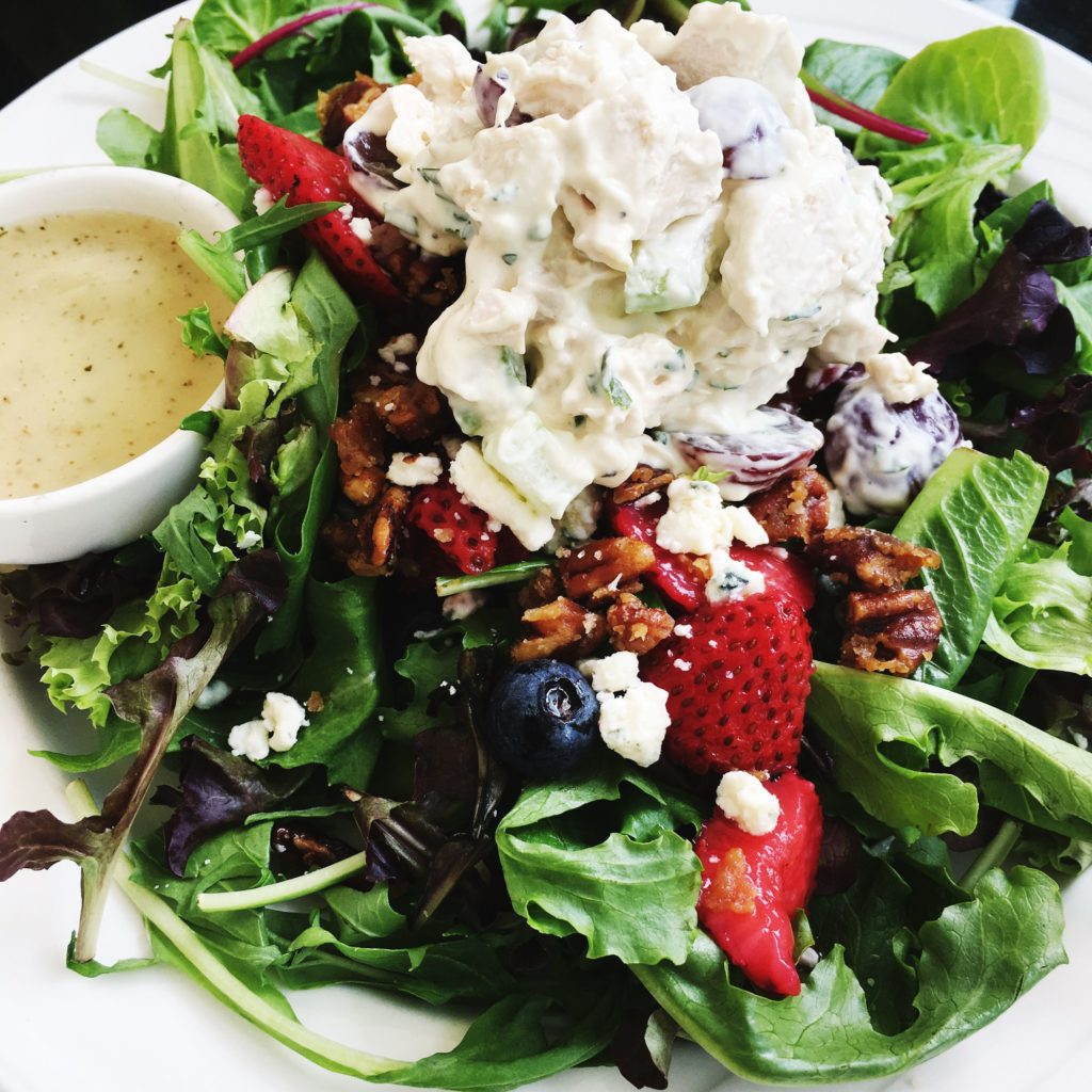 Jane also enjoyed her choice from the previous day... Summer Berry Salad with a scoop of Tarragon Chicken Salad.