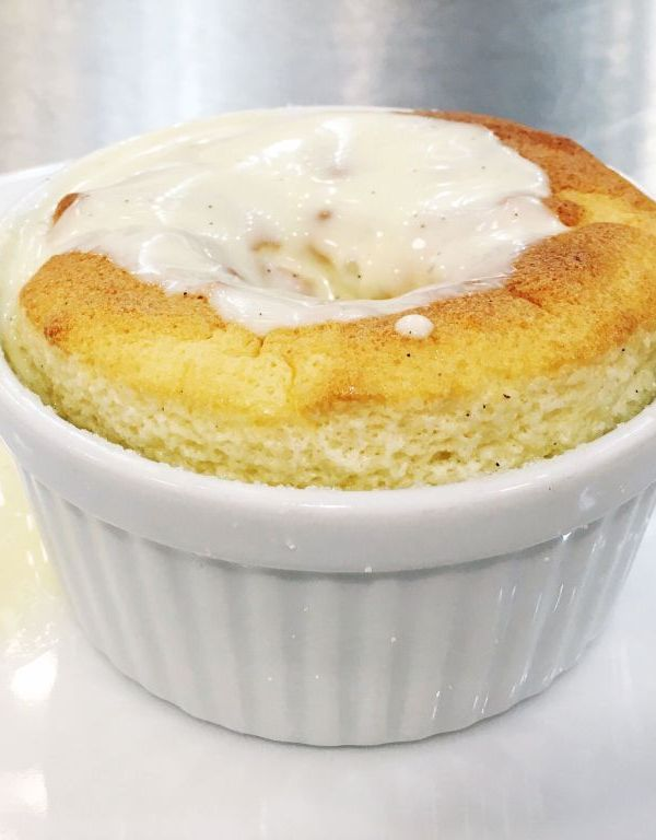 Grand Marnier Souffles with Creme Anglaise