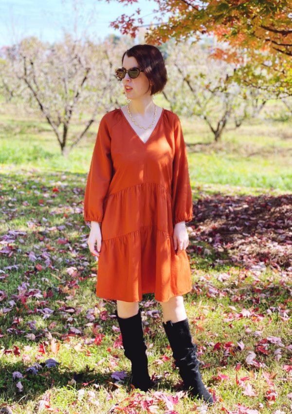 All the Fall Feels // Cinnamon Raglan Sleeve Dress