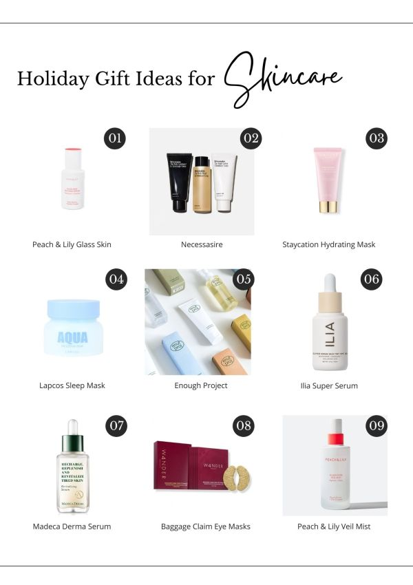 Holiday Gift Ideas for Skincare