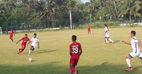 I-League team, Churchill Brothers were held to a 1-1 draw by Corps of Signals in the fourth round of the Goa Professional League. Photo Courtesy: Khelnow.com