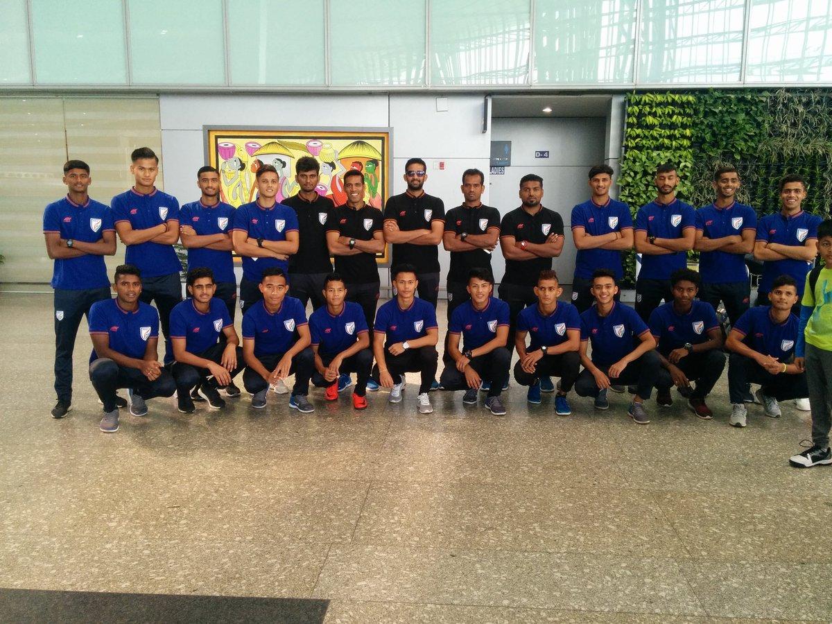Indian Under 19 National Football Team for the Valentin Granatkin Memorial Tournament 2019