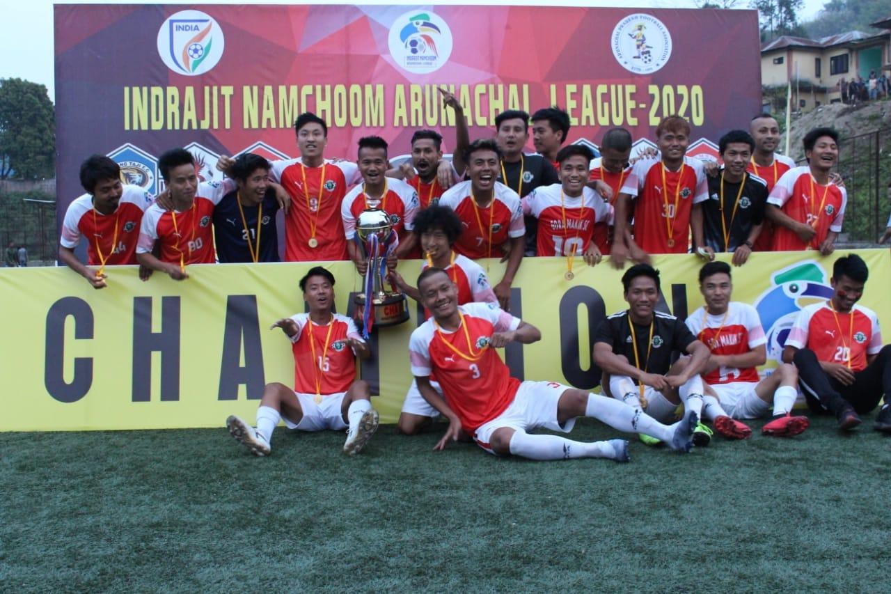 Gora Makik SC Indrajit Namchoom Arunachal League Champions 2020