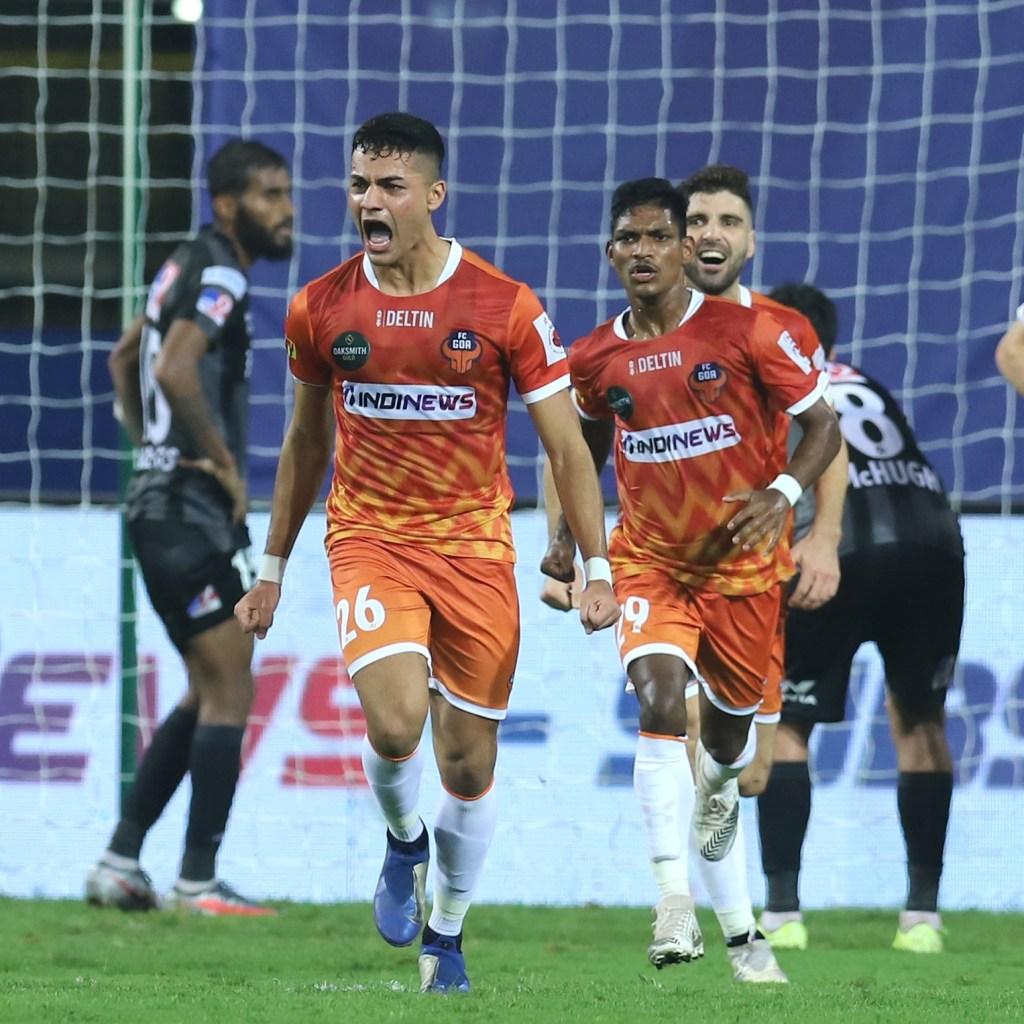 Super Sub! Ishan Pandita celebrates after scoring the equalizer (ISL 2020-21 FC Goa vs ATK Mohun Bagan)