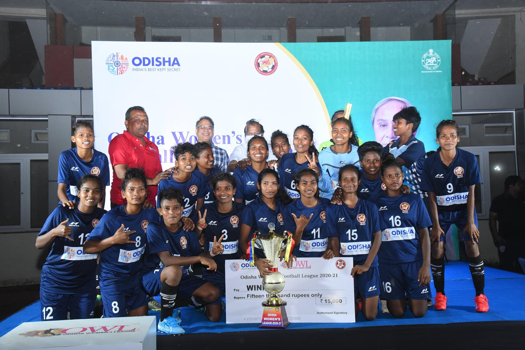 Odisha Women's League 2020-21 champions Rising Student's Club