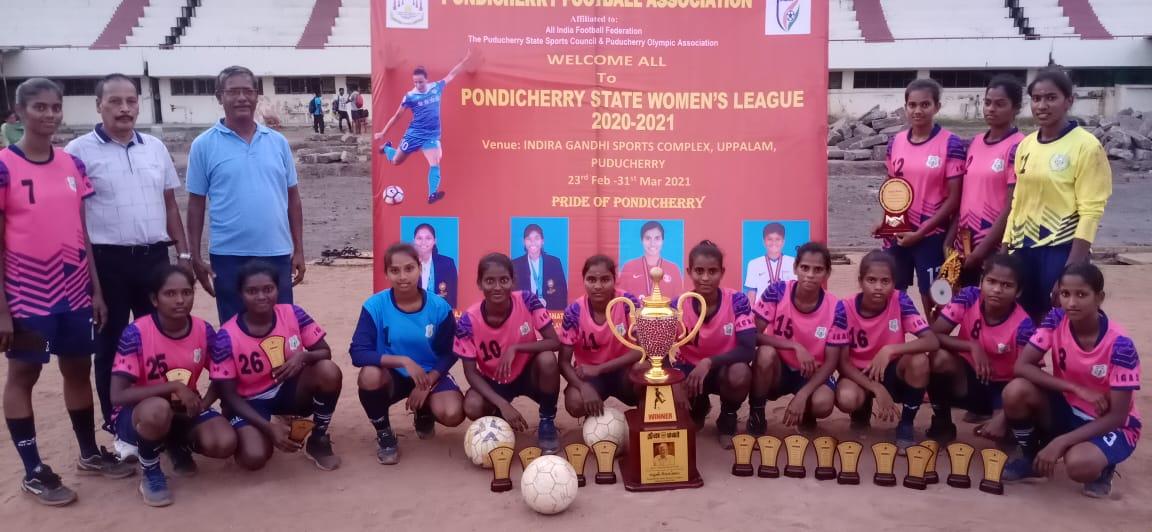 Pondicherry State Women's League 2020-21 Champions IGASE