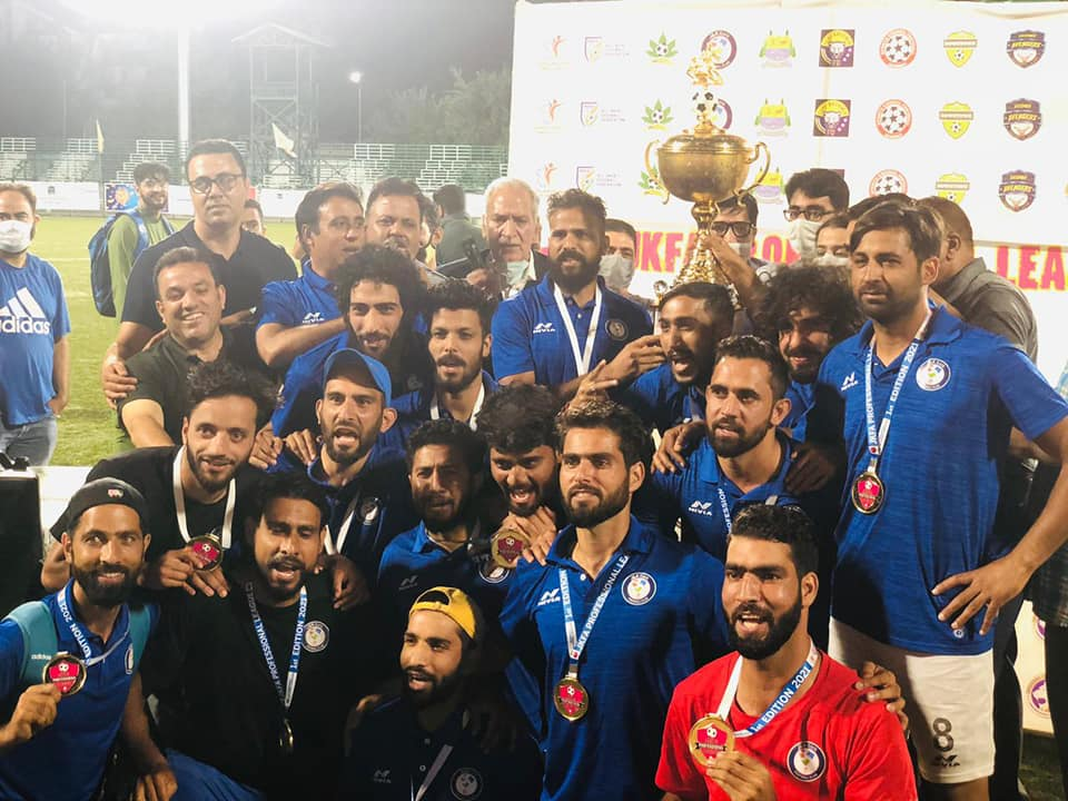 J&K Bank XI JKFA Professional League 2021 Champions