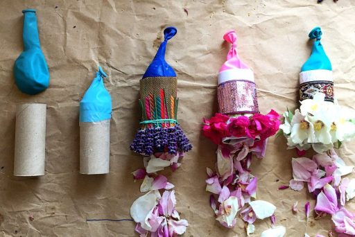 sustainable flower petal party poppers