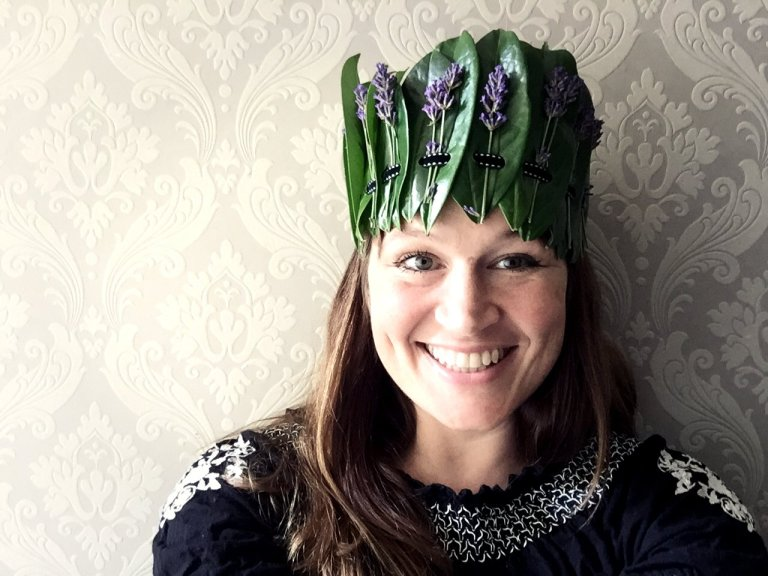 Pretty leaf crown ideal sustainable headband crafts for adults party accessory