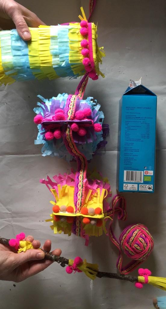 sustainable party crafts milk carton pinata eco friendly kids diy