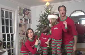 family viral christmas card video