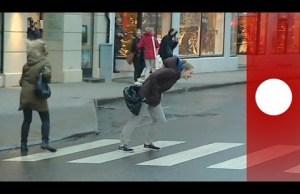 people blown in the street