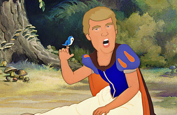 donald trump as disney princess 2