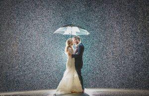 stunning rainy wedding photos 1