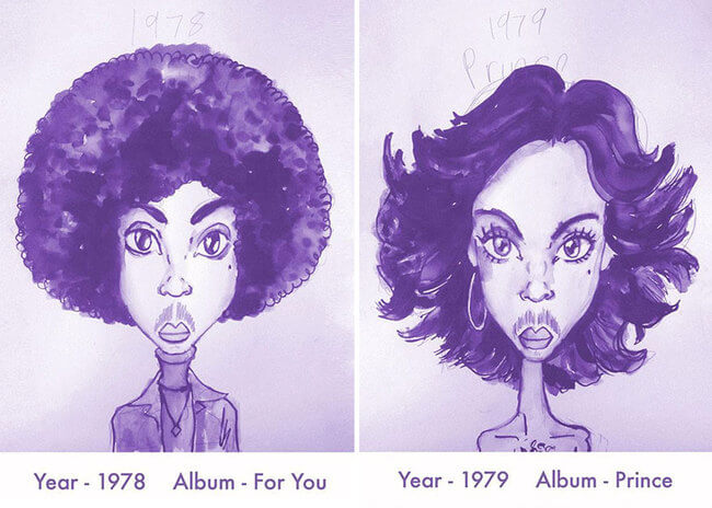 Prince's Hair Styles From 1978 To 2013 2