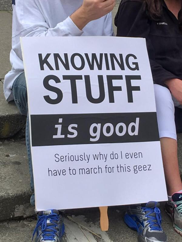 The Best Signs From The March For Science Protesting Trump ...