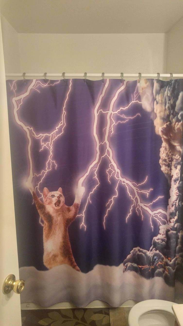 31 Funny Shower Curtains That Are So Good They Should Be In A Museum