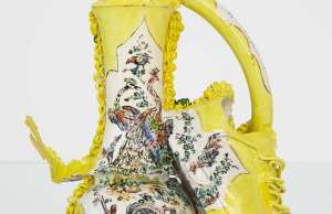 majestic large-scale porcelain sculptures exploring femininity