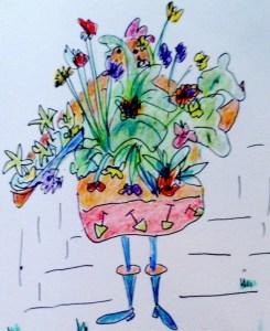 Liberty Hen gardening